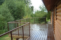 alumiuim and glass railings maple ridge