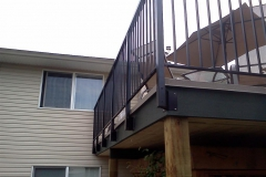 fascia mount picket aluminium railings maple ridge