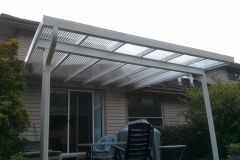 aluminium and acyclic patio cover