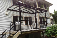 maple ridge clear glass patio cover