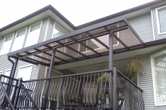 tinted glass deck cover black alumium frame