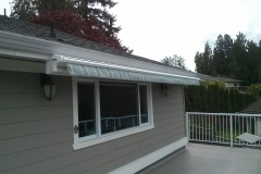 Langley retractable awning fascia install