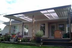 Mission Over Roof Patio cover install
