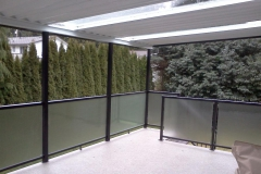 aluminium railings pin head glass for privacy