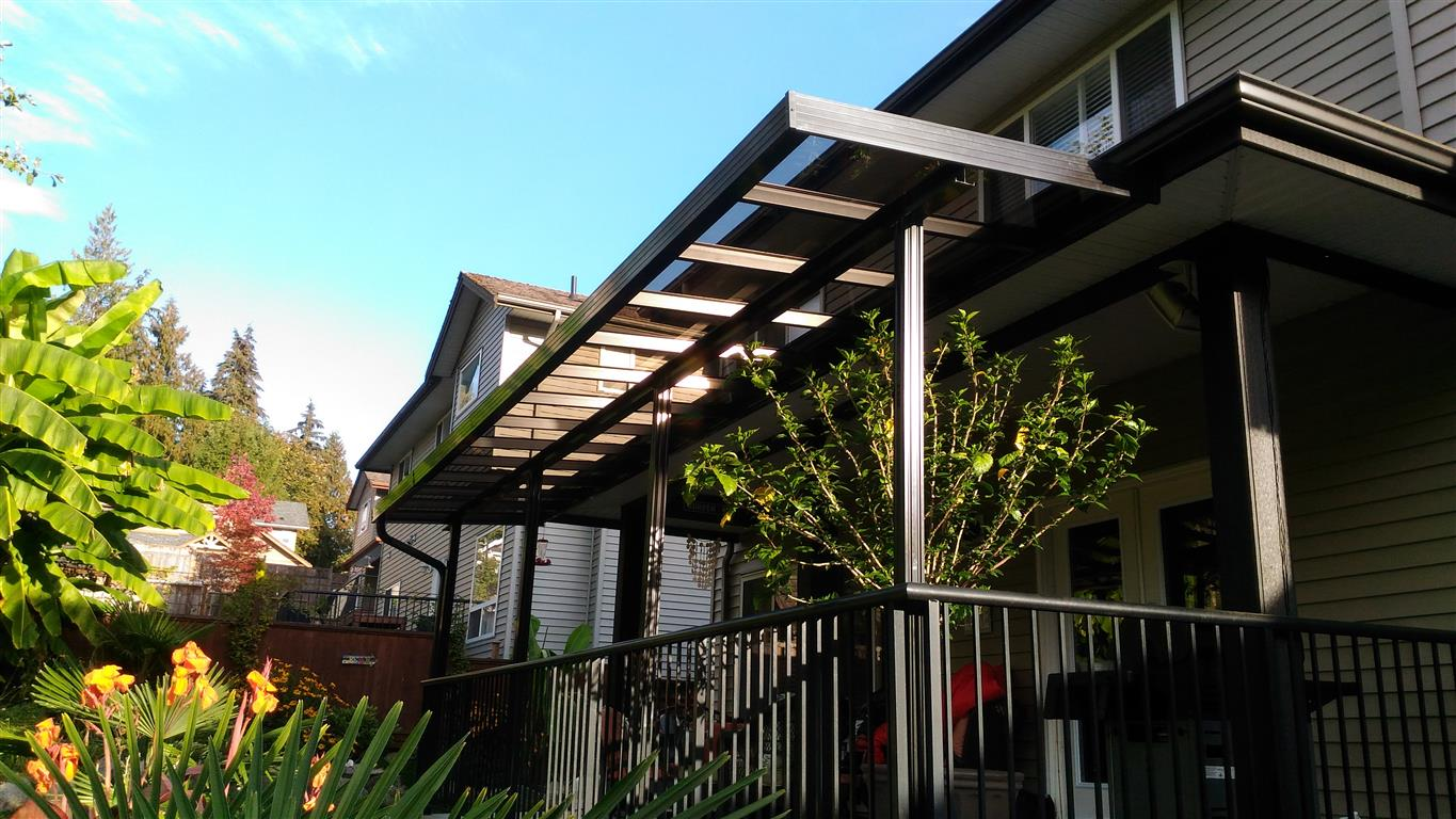 Glass and Aluminum Patio covers Primeline Industries Maple ...