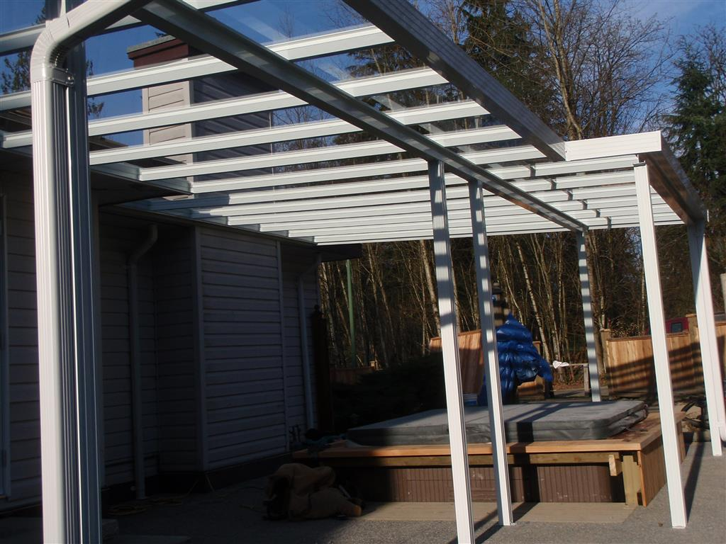 Glass And Aluminum Patio Covers Primeline Industries Maple