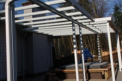 glass patio cover over hot tub area