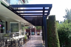 mission glass and aluminium patio cover
