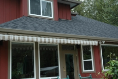 awning under soffit install