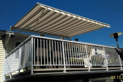 fabric retactable awning roof mount langley