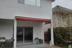 retactable awning closed with hood pitt meadows
